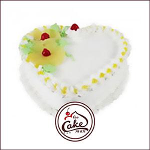 pineapple heart shape cake